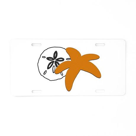 Sand Dollar Sugar Starfish.png Aluminum License Pl