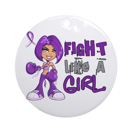 Licensed Fight Like a Girl 42.8 F Ornament (Round)