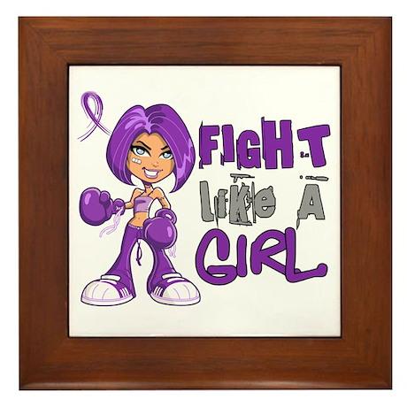 Licensed Fight Like a Girl 42.8 Fibrom Framed Tile