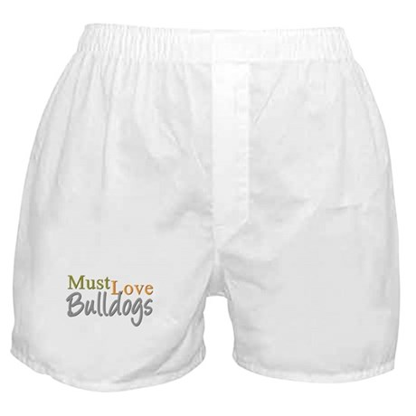 MUST LOVE Bulldogs Boxer Shorts