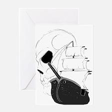 Skull Pirate Ship.png Greeting Card