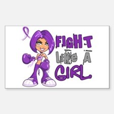 Licensed Fight Like a Girl 42. Decal