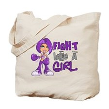 Licensed Fight Like a Girl 42.8 Epilepsy Tote Bag