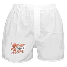 Licensed Fight Like a Girl 42.8 Endom Boxer Shorts