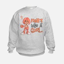 Licensed Fight Like a Girl 42.8 En Sweatshirt