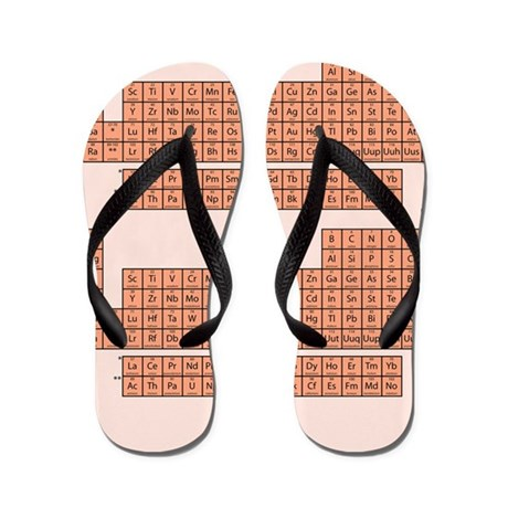 Periodic Table Flip Flops - Pink