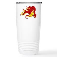 Red Octopus .png Travel Mug