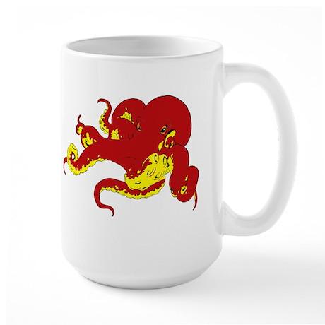 Red Octopus .png Large Mug