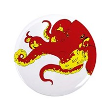 "Red Octopus .png 3.5"" Button"