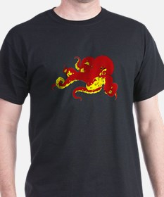 Red Octopus .png T-Shirt