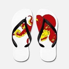 Red Octopus .png Flip Flops