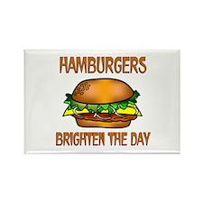 Hamburgers Brighten Rectangle Magnet