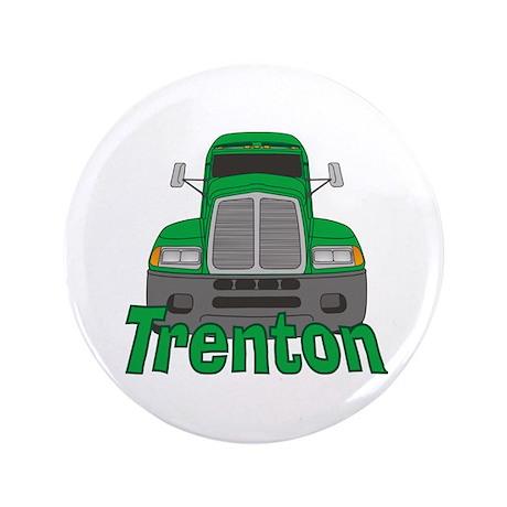 """Trucker Trenton 3.5"""" Button"""