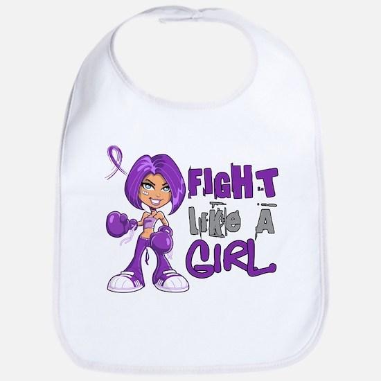 Licensed Fight Like a Girl 42.8 Cystic Fibrosi Bib