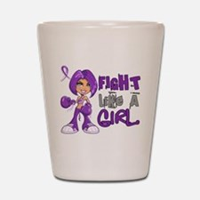 Licensed Fight Like a Girl 42.8 Cystic Shot Glass