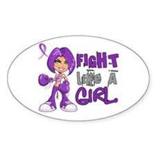 Licensed Fight Like a Girl 42 Decal