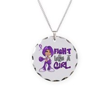 Fight Like a Girl 42.8 Crohn's Disease Necklace