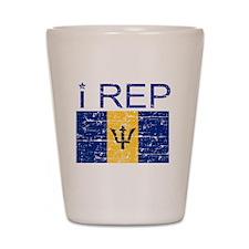 I Rep Barbados Shot Glass
