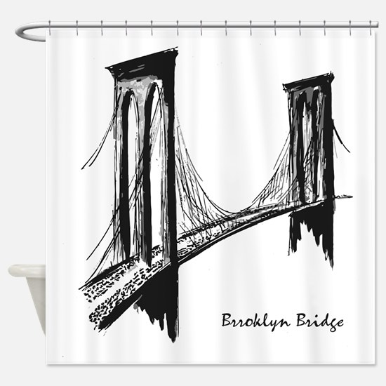 Brooklyn Bridge (Sketch) Shower Curtain