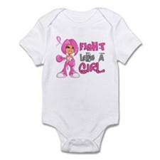 Licensed Fight Like a Girl 42.8 Infant Bodysuit