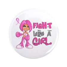 """Licensed Fight Like a Girl 42.8 3.5"""" Button"""