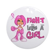 Licensed Fight Like a Girl 42.8 Ornament (Round)