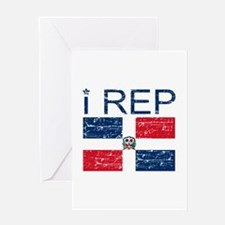I Rep Dominican Republic Greeting Card