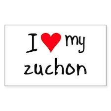 I LOVE MY Zuchon Decal