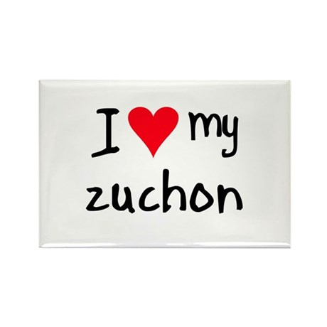 I LOVE MY Zuchon Rectangle Magnet