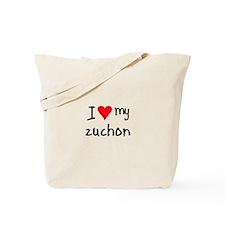 I LOVE MY Zuchon Tote Bag