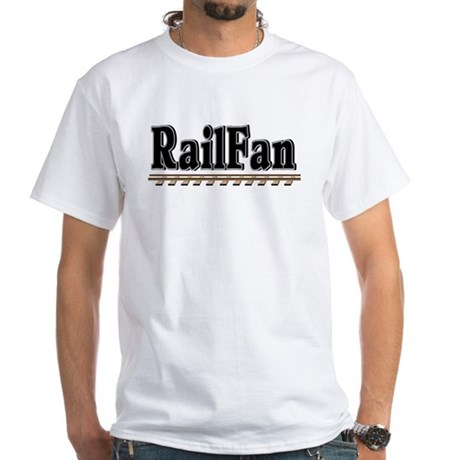 Railfan White T-Shirt