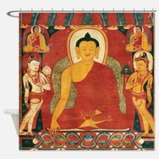 Vintage Buddha Shower Curtain