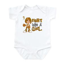 Licensed Fight Like a Girl 42.8 Ap Infant Bodysuit