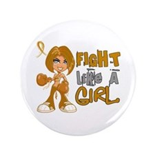 """Licensed Fight Like a Girl 42.8 Append 3.5"""" Button"""