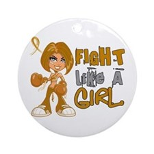 Licensed Fight Like a Girl 42.8 A Ornament (Round)