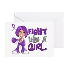 Licensed Fight Like a Girl 42.8 Anor Greeting Card