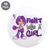 """Licensed Fight Like a Girl 4 3.5"""" Button (10 pack)"""