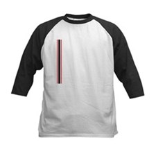 White Black Red Left Stripes.jpg Tee