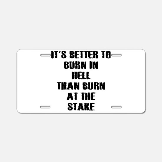 Anti religion Aluminum License Plate