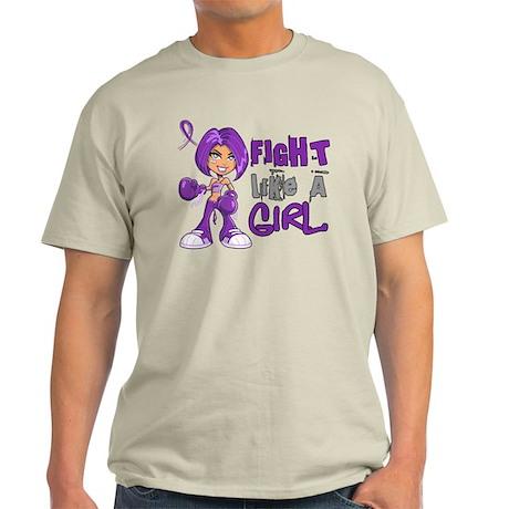Licensed Fight Like a Girl 42.8 Alzh Light T-Shirt