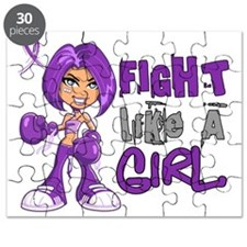 Licensed Fight Like a Girl 42.8 Alzheimer's Puzzle