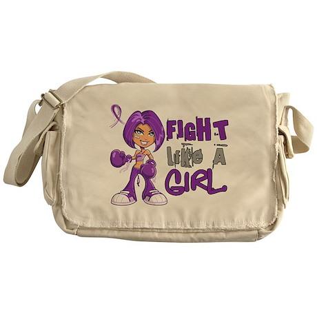 Licensed Fight Like a Girl 42.8 Alzh Messenger Bag