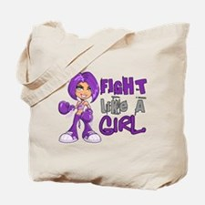 Licensed Fight Like a Girl 42.8 Alzheimer Tote Bag