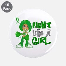 "Licensed Fight Like a Girl 4 3.5"" Button (10 pack)"