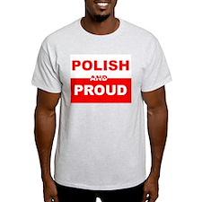 POLISH AND PROUD SHIRT TEE SH Ash Grey T-Shirt