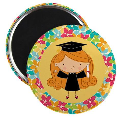 Graduate Girl Flowered Magnet Gift