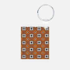 Black White Orange Print.jpg Keychains