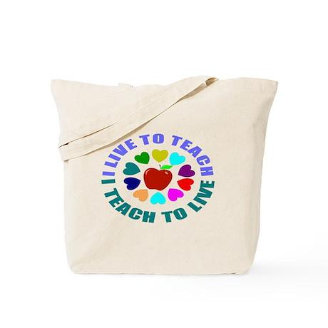 livetoteach.png Tote Bag