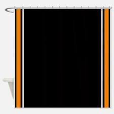 Orange Black White Side Stripes jpg Shower CurtainOrange Black Stripe Shower Curtains   Orange Black Stripe Fabric  . Orange And Black Shower Curtain. Home Design Ideas