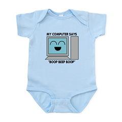 My Computer - light Infant Bodysuit